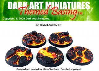 Dark Art Miniatures: Lava Bases 40mm