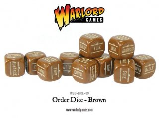 Bolt Action - Befehlswürfel/Order Dice Pack - Brown (12)