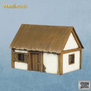 Plast Pre-Cut Modell - Medieval House - 117mm x 81mm x 77mm