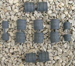 Barrels Grey 1cm + 1,5cm (10 Stk)