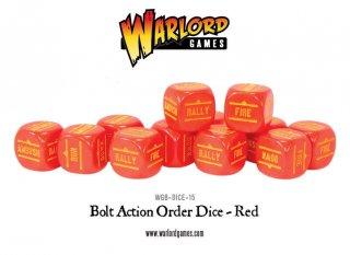 Bolt Action - Befehlswüfel/Order Dice Pack - Red (12)
