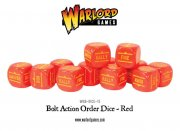 Bolt Action - Befehlswüfel/Order Dice Pack - Red (12)