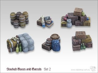 Stacked Boxes and Barrels Set 2 (6x)