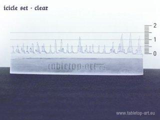 Eiszapfen-Set (Icicle set - clear)