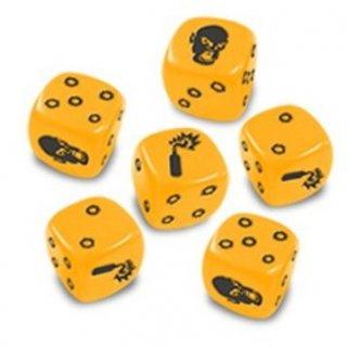 Zombicide - Yellow Dice Würfel-Set (6 Stk)