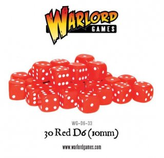 Warlord Games / Würfel / 30 Red D6 (10mm)