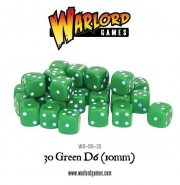 Warlord Games / Würfel / 30 Green D6 (10mm)