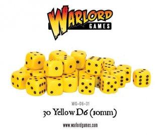 Warlord Games - Würfel/Dice 30 Yellow D6 (10mm)