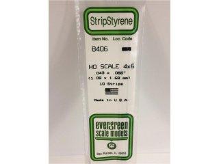 8406 HO-Scale 4x6 - Streifen 1,09mmx1,68mmx35cm (10 Stk)