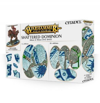Warhammer Age Of Sigmar: Citadel - Shattered Dominion - 60mm & 90mm Oval Base (40)