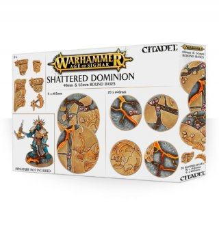 Warhammer Age Of Sigmar: Citadel - Shattered Dominion - 40mm & 65mm Round Bases (26)