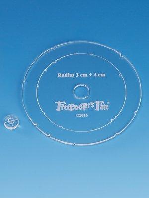 FreeBooters Fate - Steilfeuerwaffen - Schablone 3+4 cm (Freebooters Fate)