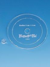 FreeBooters Fate - Steilfeuerwaffen - Schablone 3+4 cm...