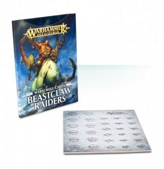 Warhammer Age of Sigmar: Warscroll Cards - Beastclaw Raiders (DE)