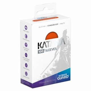 Katana Sleeves Standard Size (Orange) 100 Stk