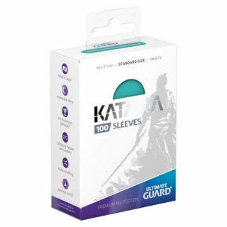Katana Sleeves Standard Size (Turquoise) 100 Stk