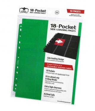 Ultimate Guard 18-Pocket Pages Side-Loading Grün (10 Stk)