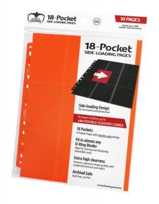 Ultimate Guard 18-Pocket Pages Side-Loading Orange (10 Stk)