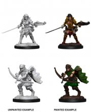 Wizk!dz Deep Cuts - Pathfinder Battles: Female Half-Elf...