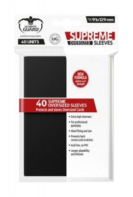 Supreme Sleeves Oversized 91x129mm (Black) 40 Stk