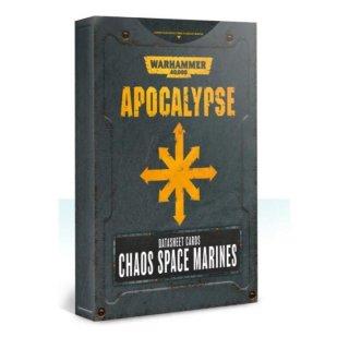 Warhammer 40000 Apocalypse: Datasheet Cards: Chaos Space Marines (EN)