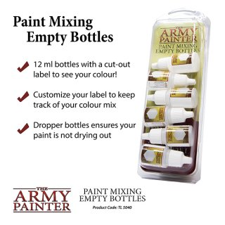 Army Painter - Paint Mixing Empty Bottles