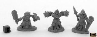Reaper Bones Black - Bloodstone Gnome Warriors (3)