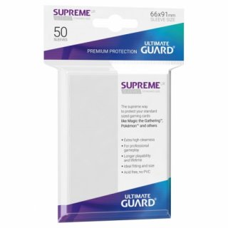 Supreme UX Sleeves Standard Size (White) 50 Stk