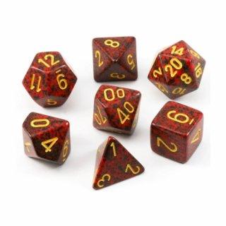 Speckled Polyhedral 7-Die Set Mercury
