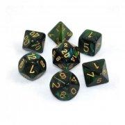 Scarab Jade/Gold Polyhedral 7-Die Set
