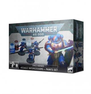 Warhammer 40.000: Space Marine Assault Intercessors + Paints Set