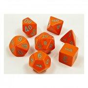 Chessex: Heavy Orange/turquoise Polyhedral 7-Die Set