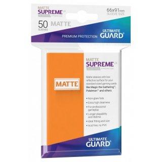 Supreme UX Sleeves Standard Size Matte (Orange) 50 Stk