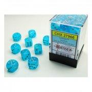 Chessex: Luminary Sky/silver d6 Dice Block