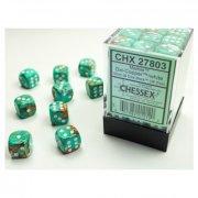 Chessex: Marble Oxi-Copper/white d6 Dice Block