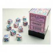 Chessex: Festive Pop Art/blue D6 Dice Block (36 Dice)