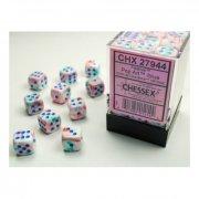 Chessex: Festive Pop Art/blue d6 Dice Block