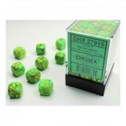 Chessex: Vortex Slime/yellow D6 Dice Block (36 Dice)