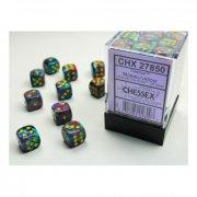 Chessex: Mosaic w/yellow D6 Dice Block (36 Dice)