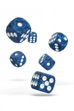 Oakie Doakie Dice: 16mm D6 Marble Blue (12)
