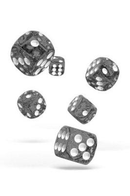 Oakie Doakie Dice: 16mm D6 Speckled Black (12)