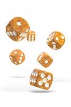 Oakie Doakie Dice: 16mm D6 Marble Orange (12)