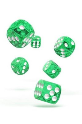 Oakie Doakie Dice: 16mm D6 Speckled Green (12)