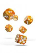 Oakie Doakie Dice: 16mm D6 Gemidice Sunstone (12)