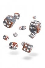 Oakie Doakie Dice: 12mm D6 Gemidice Silver-Rust (36)