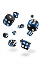 Oakie Doakie Dice: 12mm D6 Glow in the Dark Deep Ocean (36)