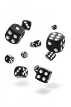 Oakie Doakie Dice: 12mm D6 Solid Black (36)