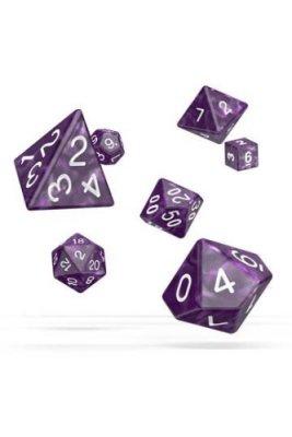 Oakie Doakie Dice: RPG Set Marble Purple (7)