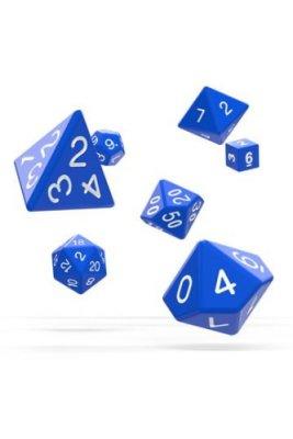 Oakie Doakie Dice: RPG Set Solid Blue (7)