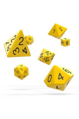Oakie Doakie Dice: RPG Set Solid Yellow (7)